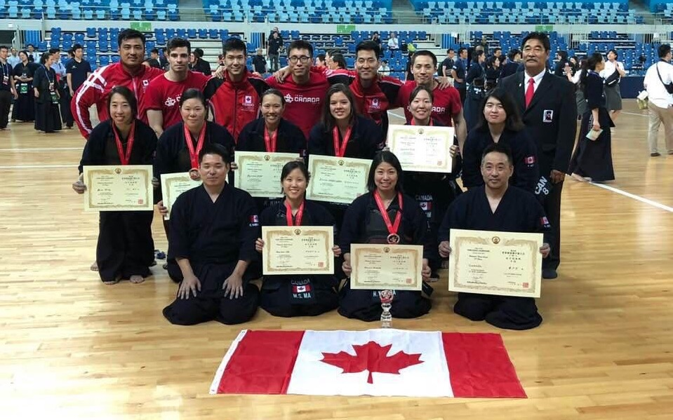 Women's Team Canada Win Third Place at the 17th World Kendo Championships